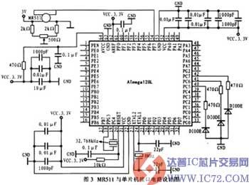atmega128l的工作时钟源可以选取外部晶振,外部rc振荡器,内部rc振荡器