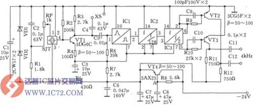 1024khz与4khz方波输出电路图
