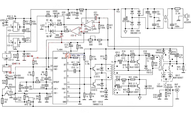tl494电动车充电器电路图