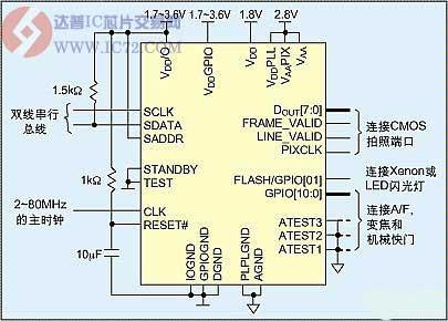mt9d111的典型接线图