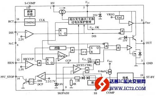 绿色电源控制芯片l6668控制的ac/dc适配器电路图