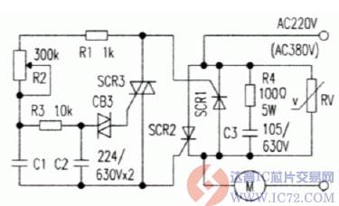 大功率可控硅无级调速触发电路图