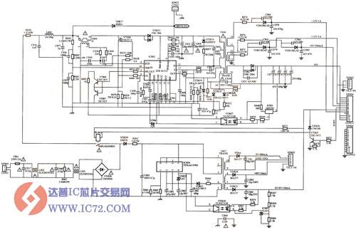 创维52pl68彩色电视机开关电源电路图
