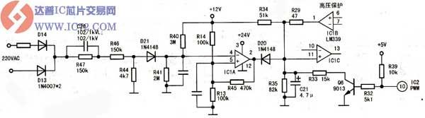 说明故障在浪涌电压保护电路