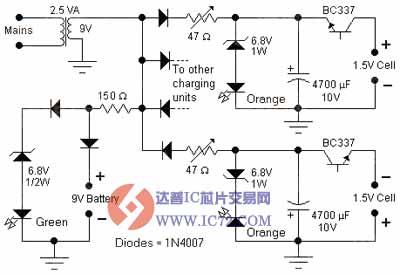 碱性电池充电器电路图