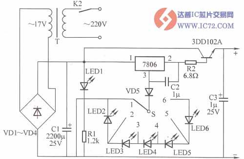 可调大电流的直流稳压电源电路图图片