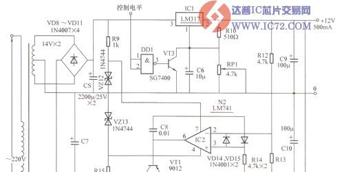 影碟视听系统的直流稳压电源电路图图片