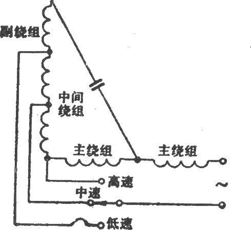 绕组抽头调速电路(h型)