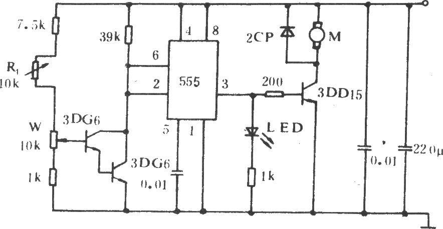 汽车电风扇控制电路(一)