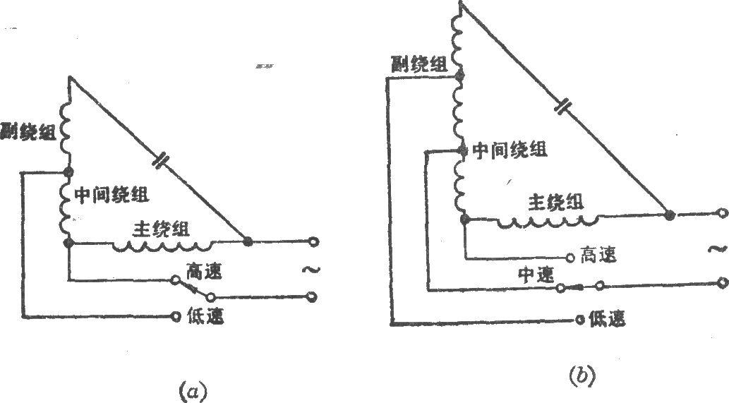 绕组抽头调速电路(l2型)