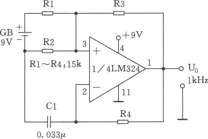 r3构成正反馈,积分电路r4