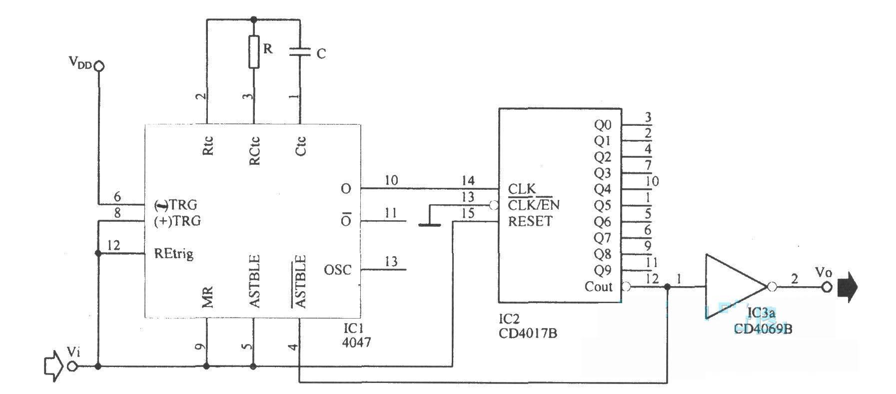 脉冲展宽电路 - 脉冲信号产生器