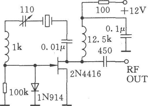 可变石英晶体振荡器(vxo)电路
