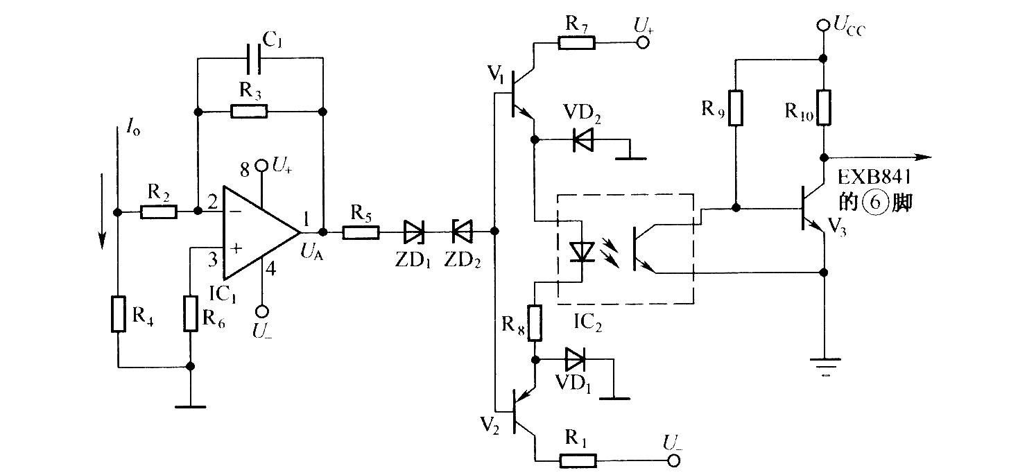 检测高频交流电流短路的保护电路