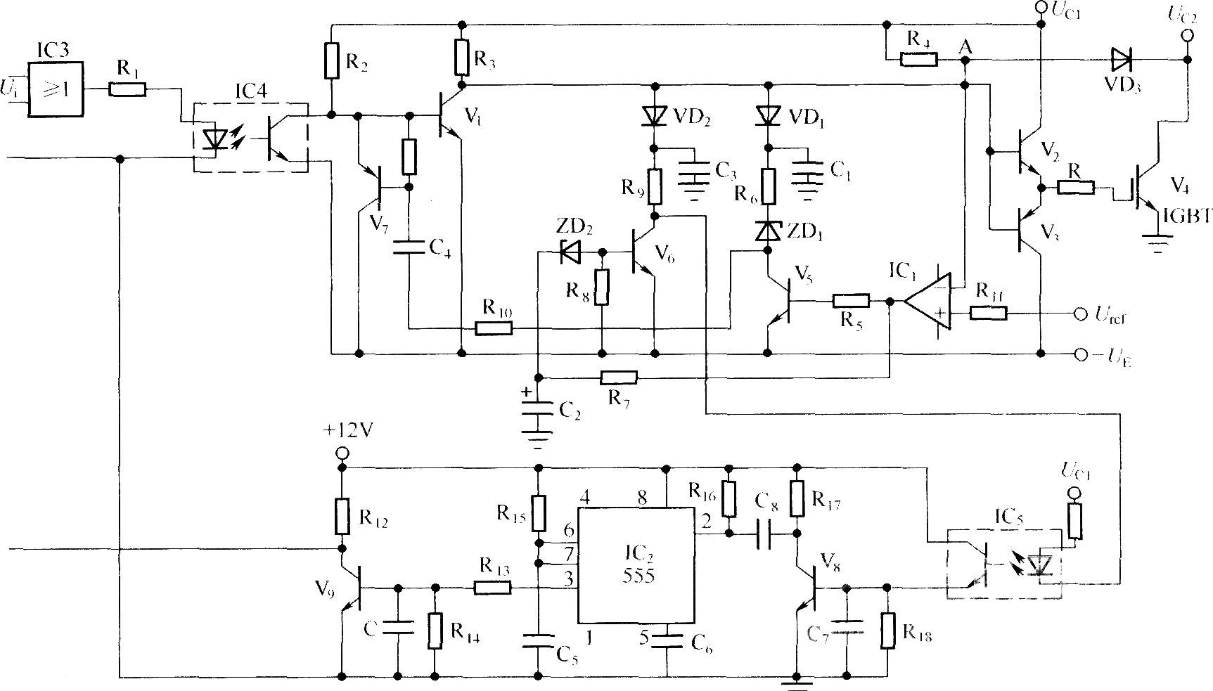 频率的综合短路保护电路