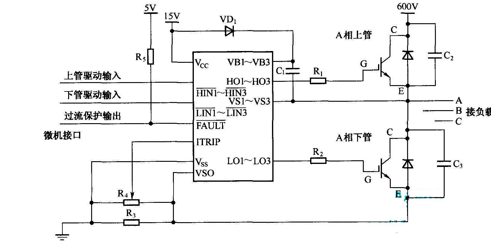 调速器 图纸 富士变频器接线电路图与控制方