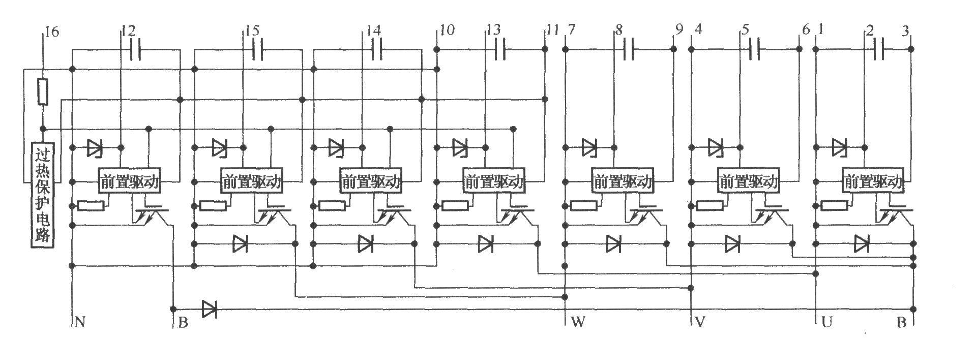 r系列igbt-ipm的内部结构图-机电之家网变频器技术网