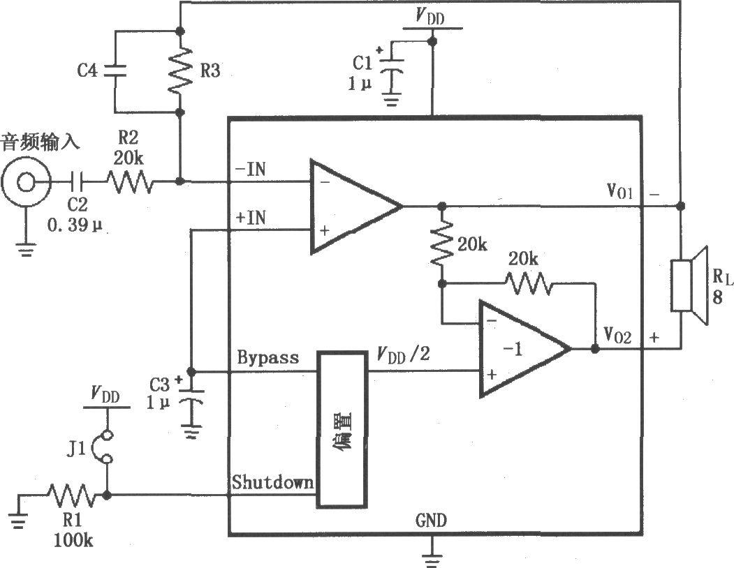 lm4904高增益音频放大电路