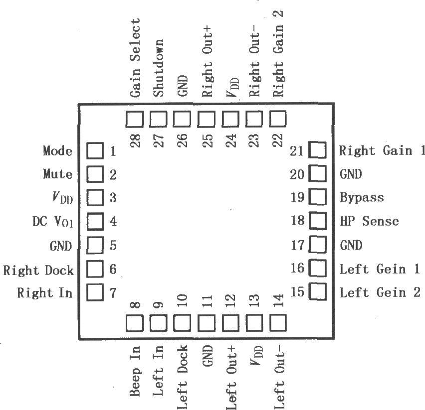 lm4835/4838单片立体声电桥音频功率放大器