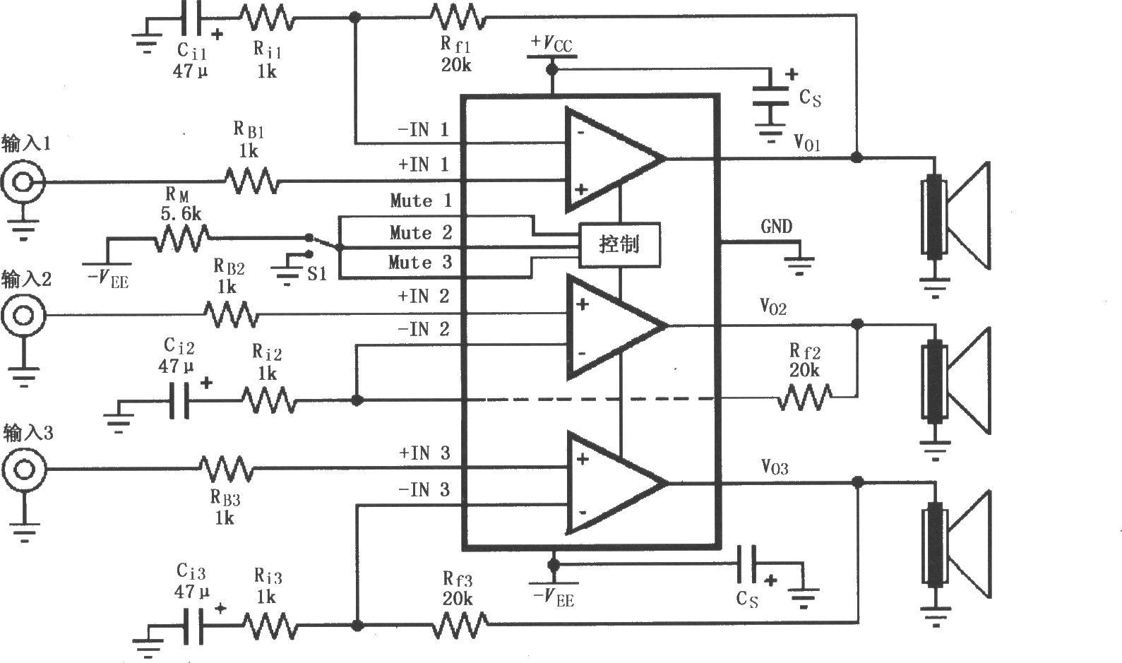 的音频功率放大电路