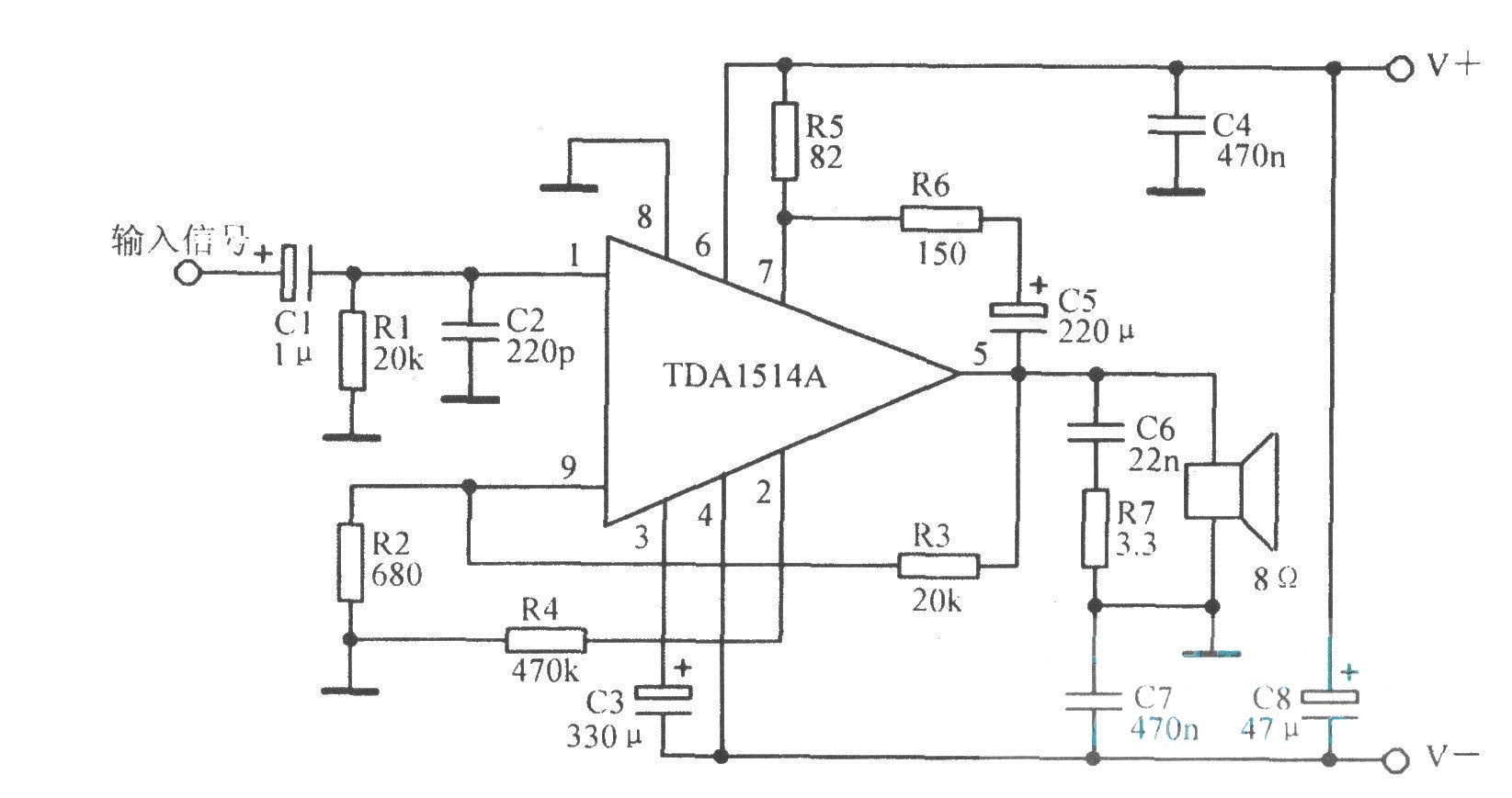 tdal514a典型应用电路