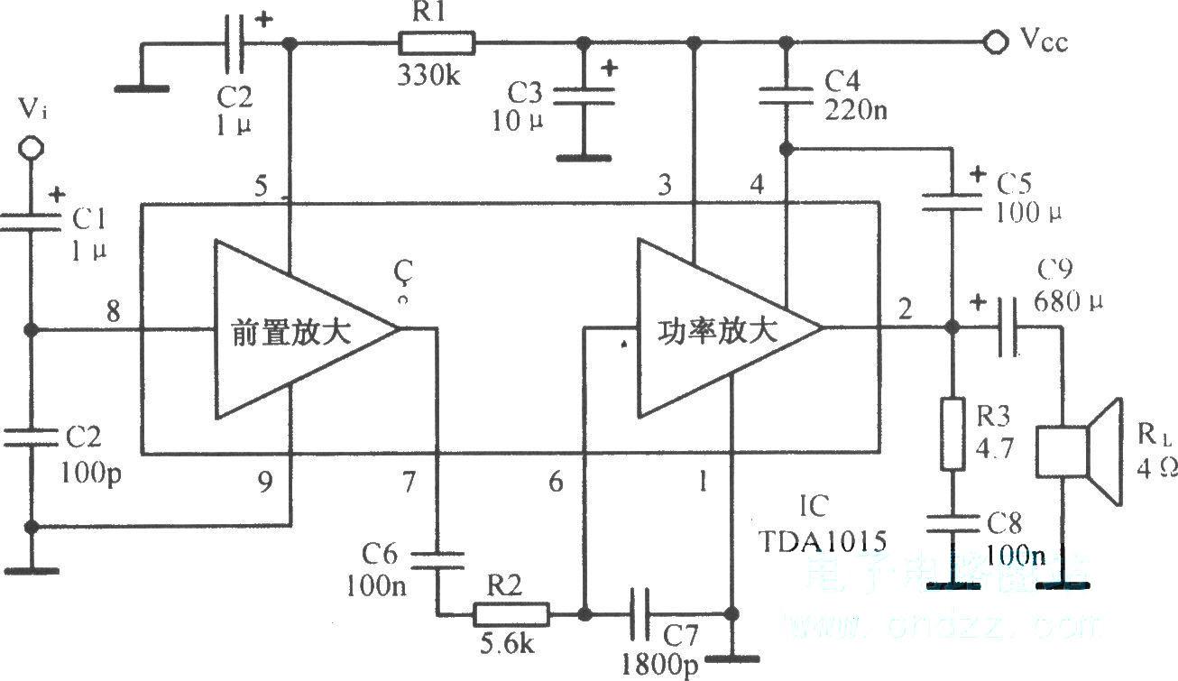 1~4w音频放大电路
