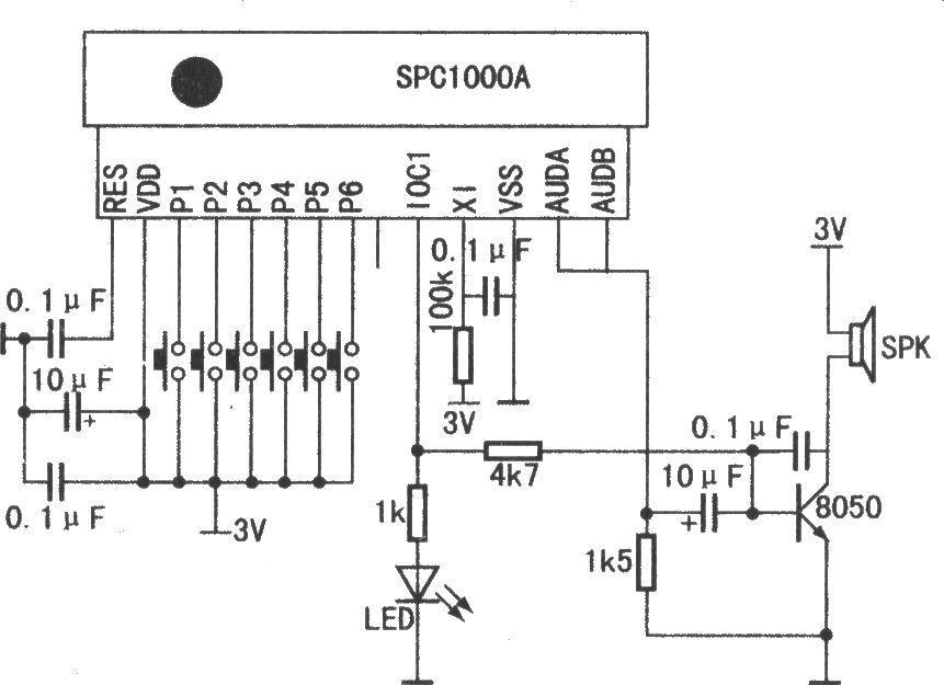 采用钟控时间程序专用电路模块配套spc1000a生产的新型智能音乐数码打