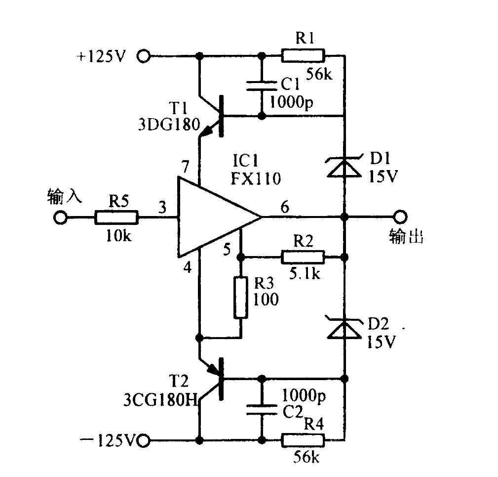 高压跟随电路 - 调节测量放大电路