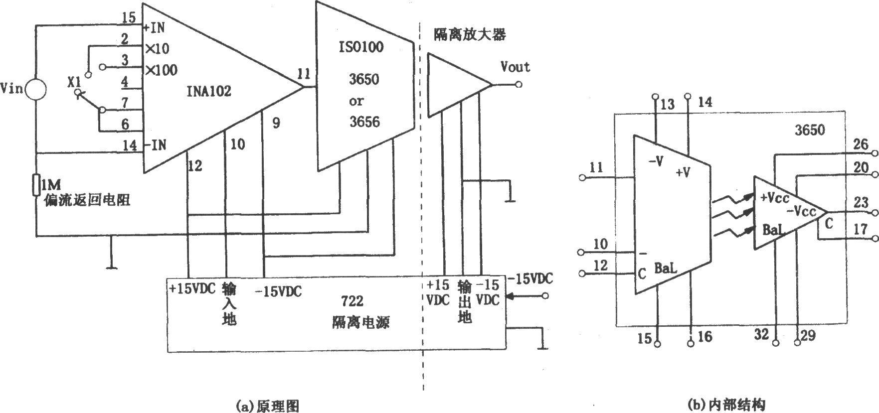 如图所示为精密隔离仪用放大电路.由图可知
