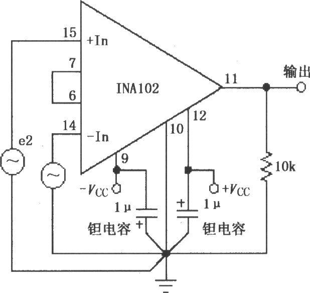 ina102的基本连接电路