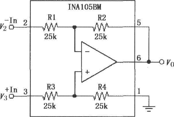 精密差分放大电路 INA105