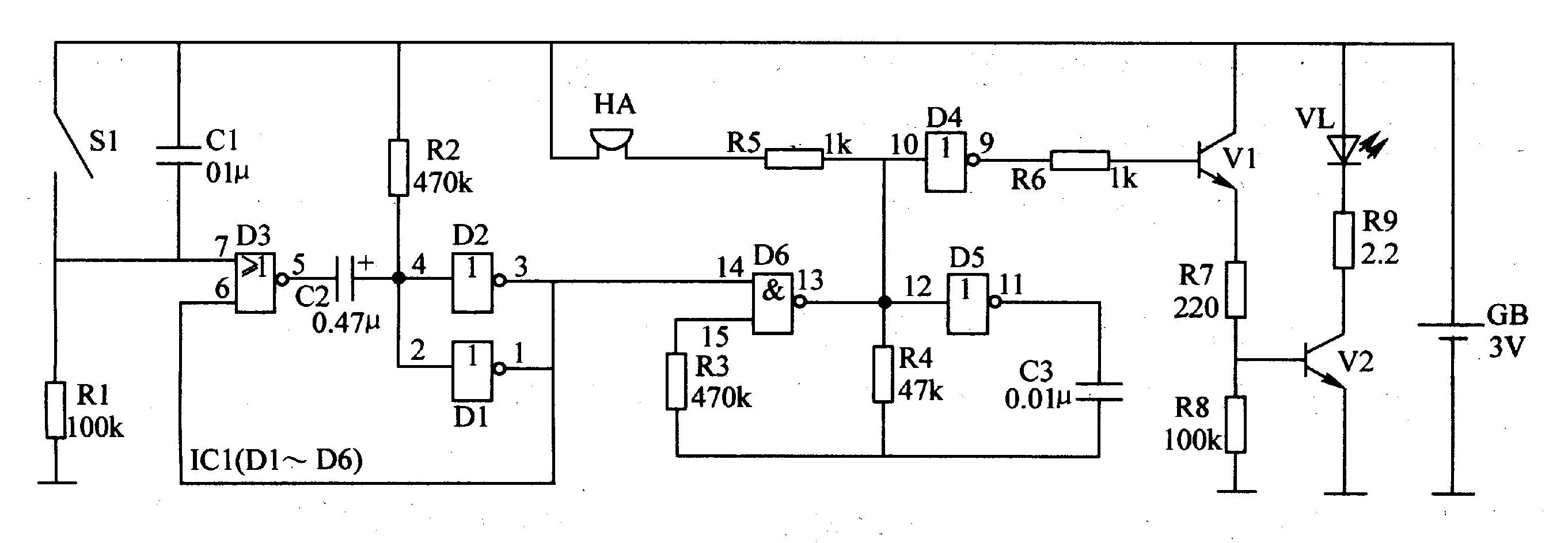 红外发射接收ic电路图