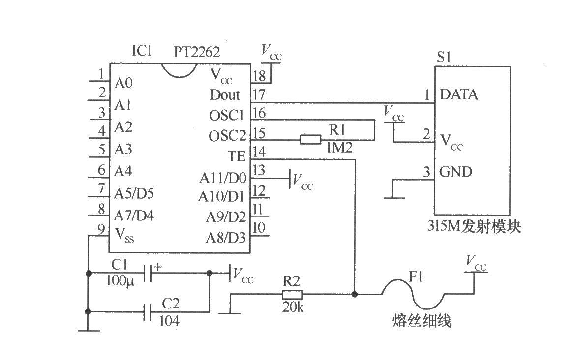 带多个检测头的无线报警器电路 光敏电阻 技术资料