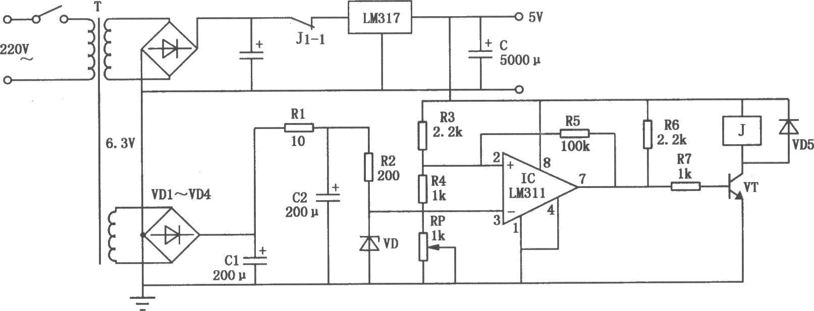 单板机电源过压保护电路