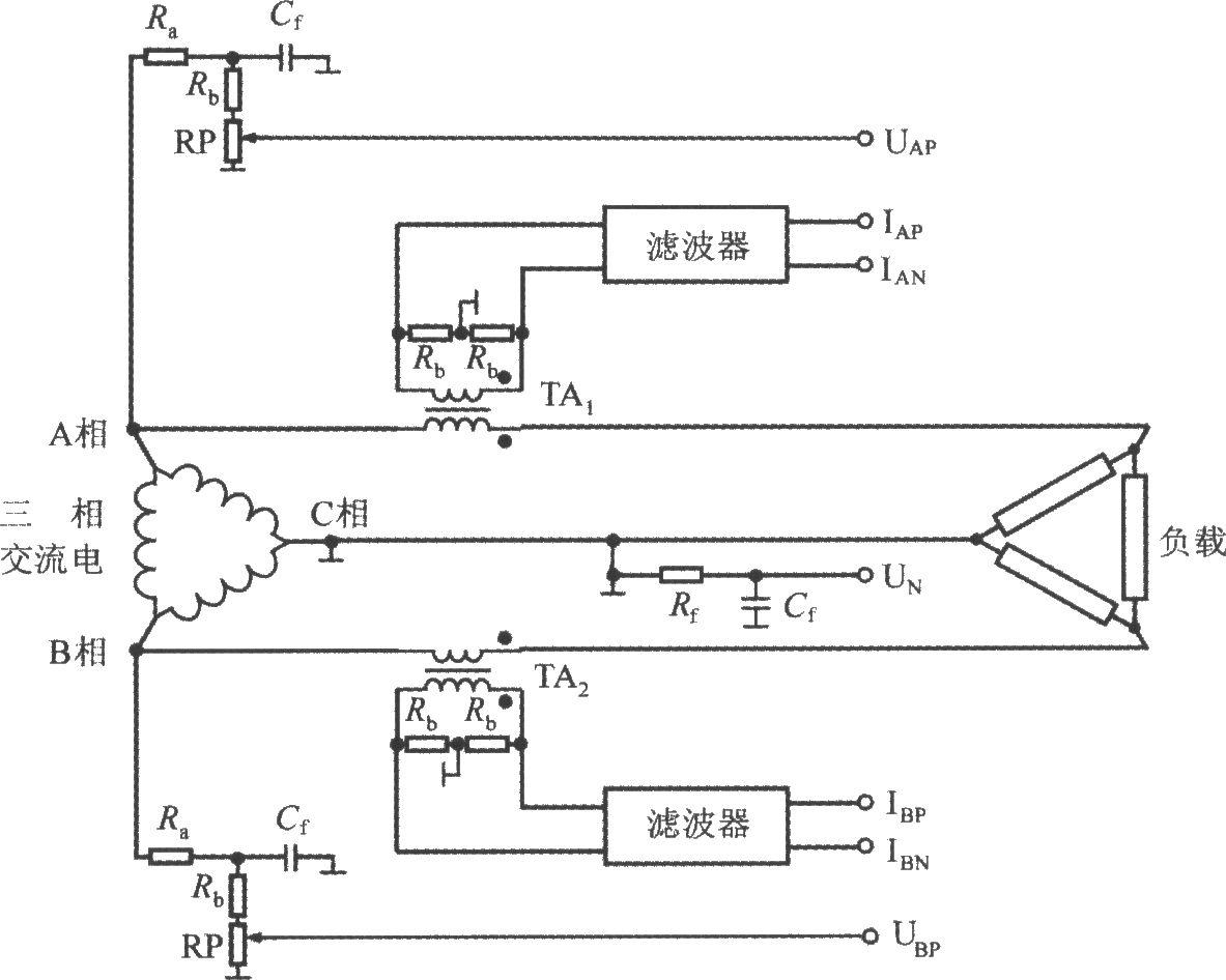 采用三相三线制三角形接法的ade7752(三相电能计量)