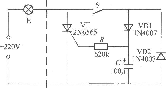 延迟熄灯拉线开关电路(1)