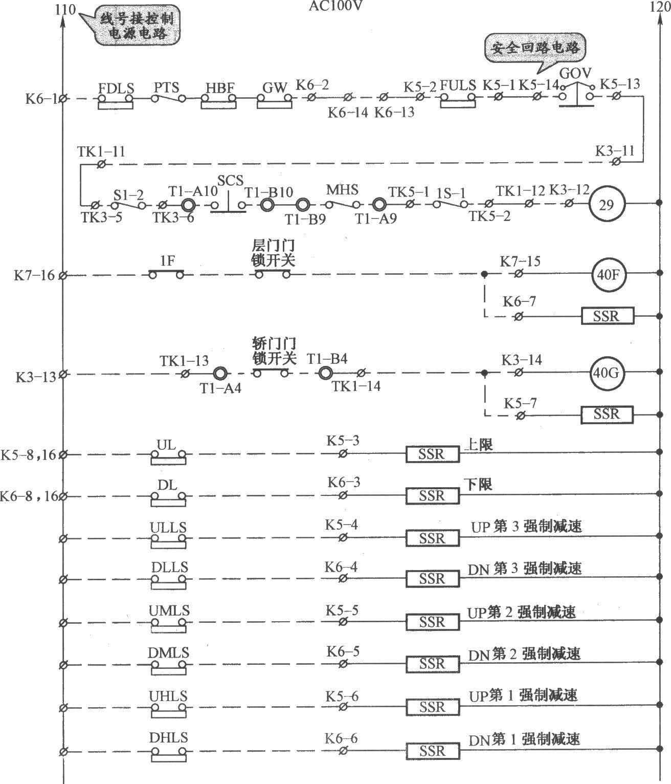 铃木电梯安全回路电路(b)