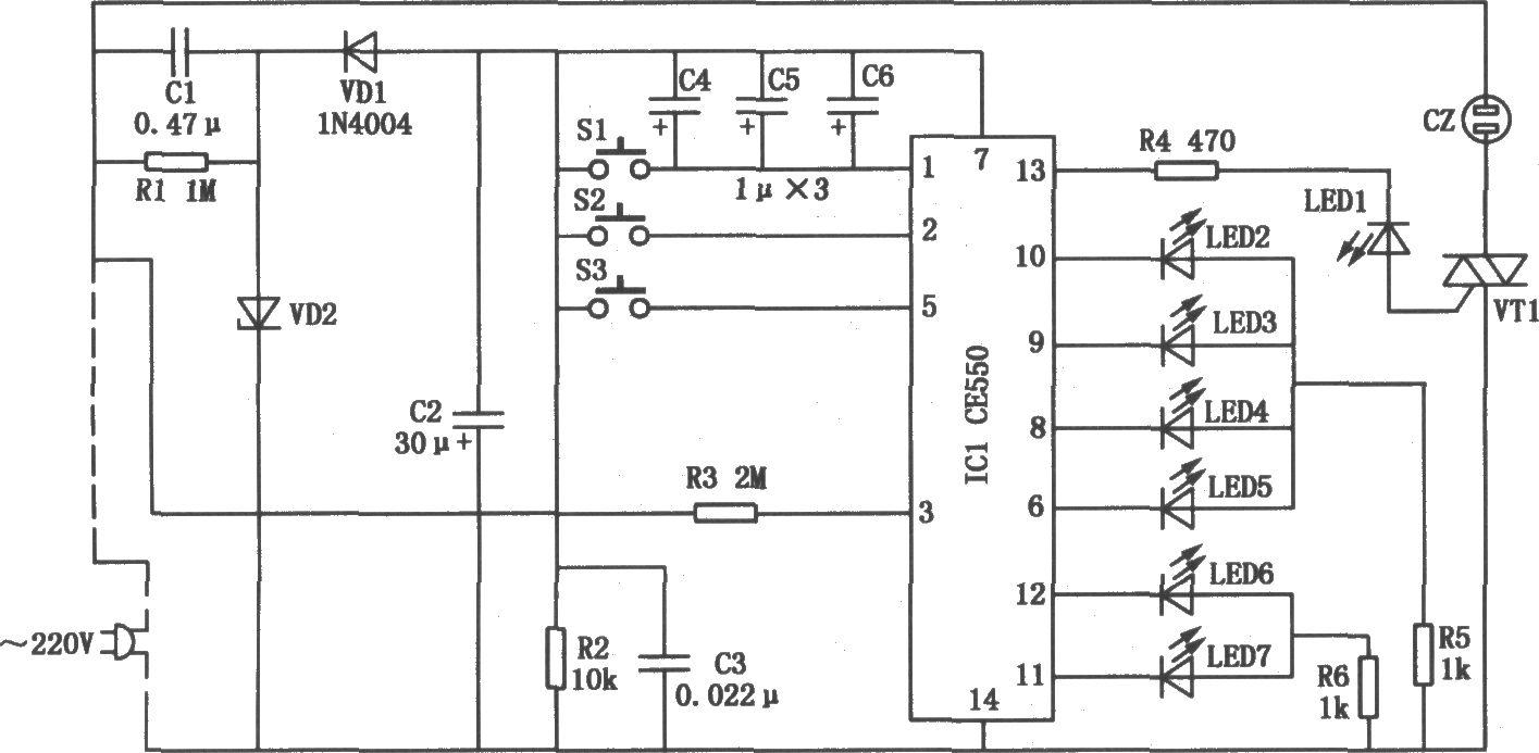 电风扇专用控制器