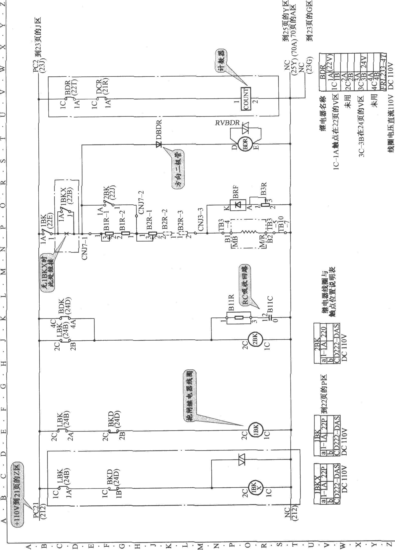 东芝cv60电梯抱闸电路