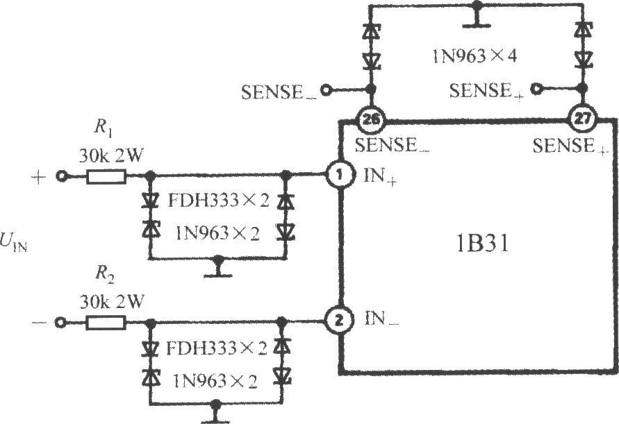 宽带设计电路调理器1b31的保护输入素描-传工艺信号应变机械图片