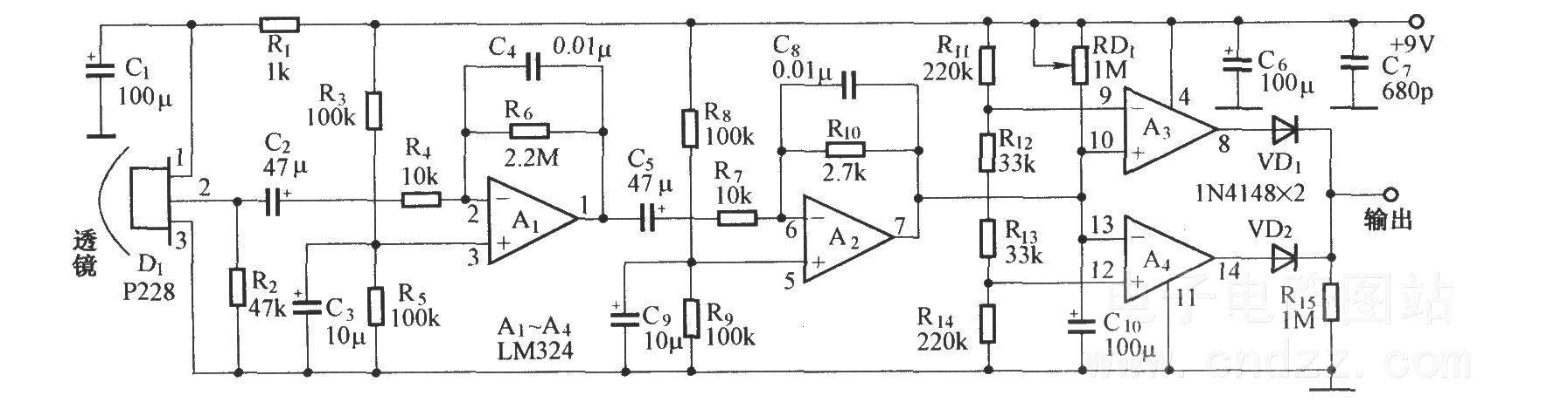 热释电红外探测电路