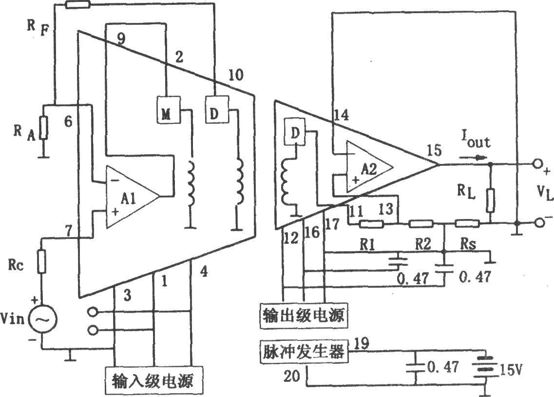 隔离放大器3656构成的双极性v/i隔离转换器 可控硅
