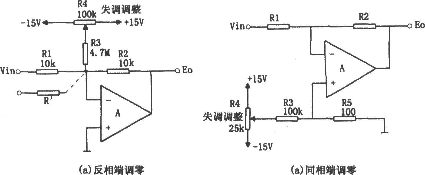 运放应用输入端的调零电路一