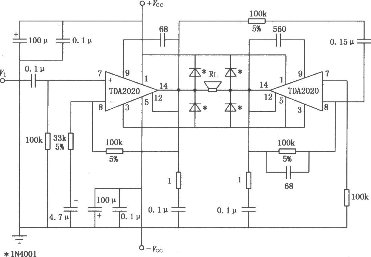 a2020的btl应用电路
