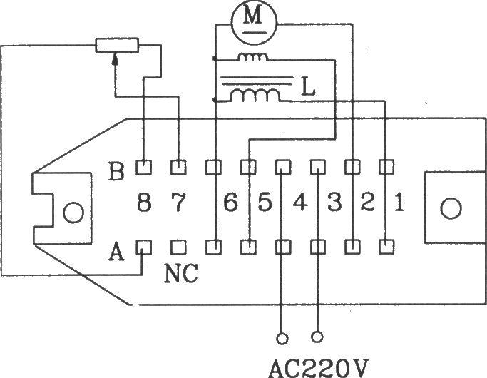 小功率直流电机控制组件kcz1电原理图及外部接线