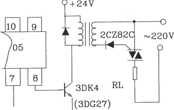 可控硅移相触发器kj005外电路接线图