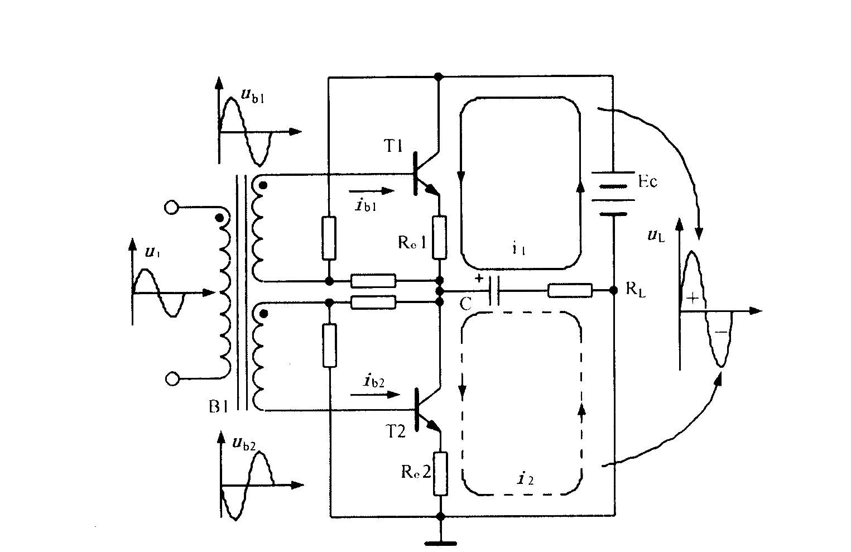 有输入变压器的OTL电路图片