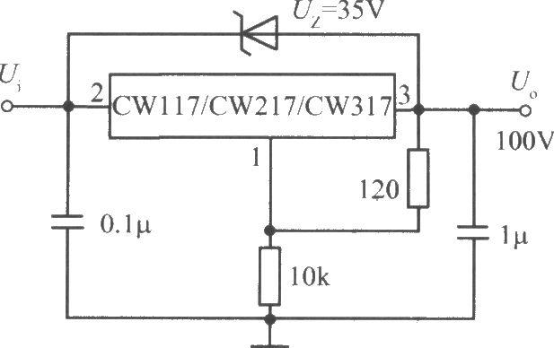 cw117/cw217/cw317构成的高输出电压集成稳压电源