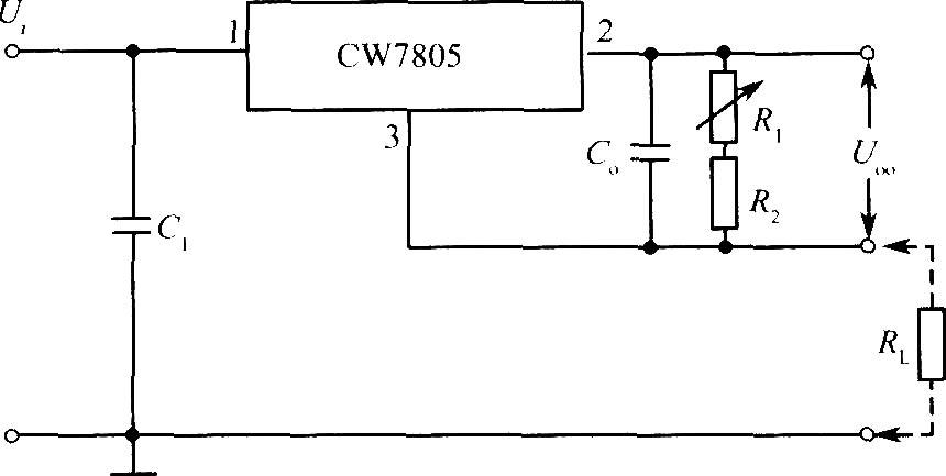 cw7805构成的输出电流可调的恒流源电路
