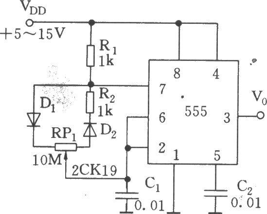c1组成无稳态多谐振荡器